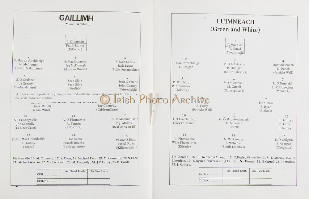 All Ireland Hurling Semi-Final.Limerick v Galway.Thurles, Co. Tipperary.15th April 1979.15.04.1979