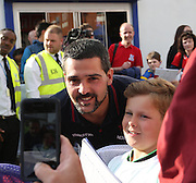 Julian Speroni poses for pictures on arrival at Selhurst Park - Crystal Palace v Dundee - Julian Speroni testimonial match at Selhurst Park<br /> <br />  - © David Young - www.davidyoungphoto.co.uk - email: davidyoungphoto@gmail.com