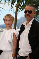 Actress Delphine Chuillot, Director Arnaud Des Pallières,.at Michael Kohlhaas Film Photocall Cannes Film Festival On Friday 24th May May 2013
