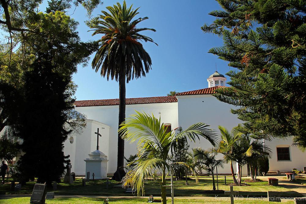 USA, California, Oceanside. Quadrangle of Old Mission San Luis Rey de Francia.