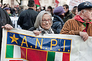 Roma, 24 Novembre 2012..Presidio e corteo antifascista contro la manifestazione di Casapound..Bianca Bracci Torsi, Partigiana....