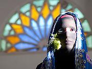 """Blue"" by Amira Al-Sharif. Yemeni woman with her traditional clothing in Sana'a, Yemen."