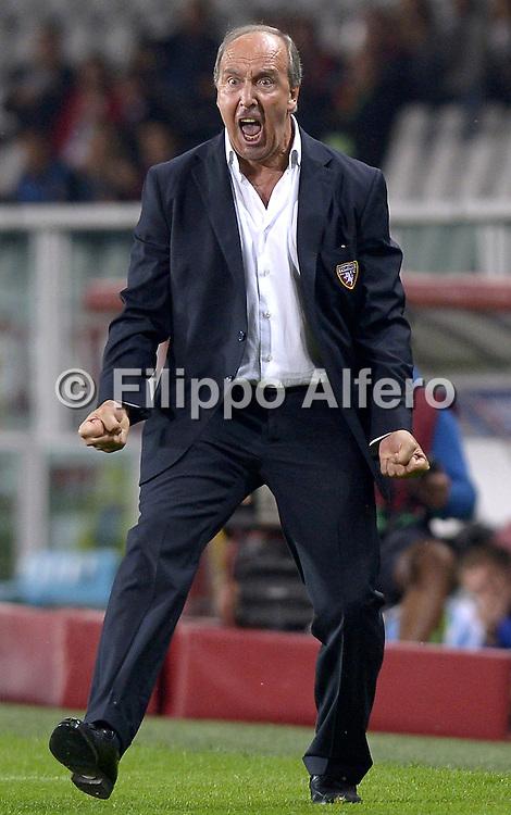 &copy; Filippo Alfero<br /> Torino-Copenaghen - Europa League 2014/2015<br /> Torino, 02/10/2014<br /> sport calcio<br /> Nella foto: Giampiero Ventura