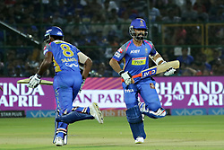April 22, 2018 - Jaipur, Rajasthan, India - Rajasthan Royals batsman & captain Ajinkya Rahane run during the IPL T20 match against  Mumbai Indians  at Sawai Mansingh Stadium in Jaipur on 22 April,2018.(Photo By Vishal Bhatnagar/NurPhoto) (Credit Image: © Vishal Bhatnagar/NurPhoto via ZUMA Press)