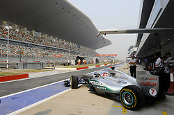 28.10.2011, Jaypee-Circuit, Noida, IND, F1, Grosser Preis von Indien, Noida, im Bild Michael Schumacher (GER), Mercedes GP // during the Formula One Championships 2011 Large price of India held at the Jaypee-Circui 2011-10-28  EXPA Pictures © 2011, PhotoCredit: EXPA/ nph/  Dieter Mathis        ****** only for AUT, SLO,POL ******
