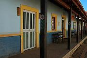 Restaurant facade in Samaipata, Bolivia