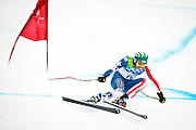 Bode Miller of the United States competes in the Men's Downhill during the 2010 Vancouver Winter Olympics at Whistler Creekside in Whistler, British Columbia on Monday, February 15, 2010. Miller won the bronze medal with his third place finish.