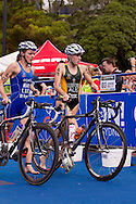 Annabel Luxford AUS.Womens ITU Race.2011 Dextro Energy Triathlon ITU World Championship Sydney.Sydney, New South Wales, Australia..Hosted By USM Events.Proudly Supported By Asics, Dextro, Suunto, Events New South Wales, Subaru, USM Events..10/04/2011.Photo Lucas Wroe
