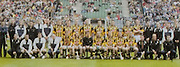 All Ireland Senior Hurling Championship - Final,.14092003AISHCF,.14.09.2003, 09.14.2003, 9th September 2003,.Senior Kilkenny 1-14, Cork 1-11,.Minor Kilkenny 2-16, Galway 2-15,.Avonmore Super Milk, .Kilkenny, Back row from left, Philly Larkin, Andy Comerford, Aidan Fogarty, Brian Dowling, Jackie Tyrell, Ken Coogan, Sean Dowling, Noel Hickey, Henry Shefflin, James Ryall, Derek Lyng, John Hoyne, Peter Barry, Martin Comerford, Jimmy Coogan, Walter Burke, PJ Ryan, Diarmuid Mackey, Front row, from left Willie O'Dwyer, John Maher, Conor Phelan, Stephen Grehan, Tommy Walsh, Michael Kavanagh, James McGarry, DJ Carey, JJ Delaney, Eddie Brennan, Paddy Mullally, Pat Tennyson, Eddie Mackey, Aidan Cummins,
