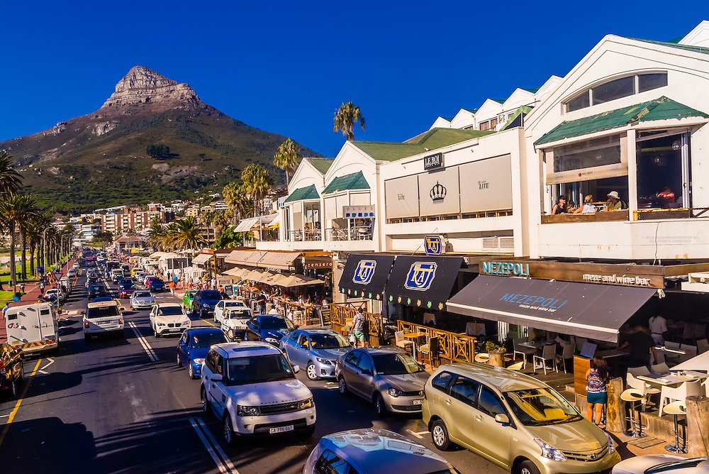 Camps Bay, a seaside suburb of Cape Town, South Africa.