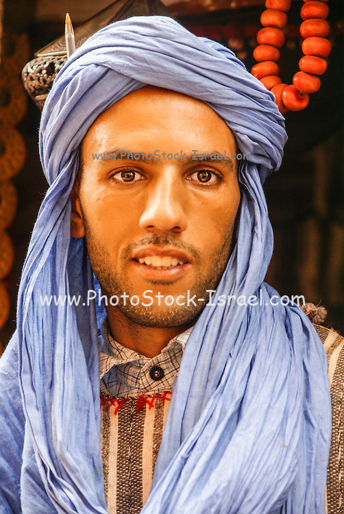Portrait of a Moroccan man in the Casbah of Ait Benhaddou, Morocco