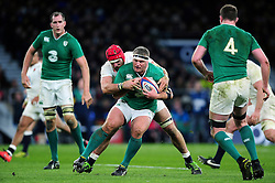 Nathan White of Ireland is tackled by James Haskell of England - Mandatory byline: Patrick Khachfe/JMP - 07966 386802 - 27/02/2016 - RUGBY UNION - Twickenham Stadium - London, England - England v Ireland - RBS Six Nations.