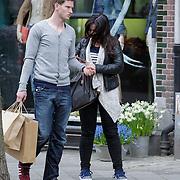 NLD/Amsterdam/20120418 - Voetballer Jan Vertonghen winkelend met partner Sophie de Vries,