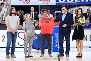 luigi longhi, dino panato premiazione<br /> Dolomiti Energia Trento - EA7 Emporio Armani Olimpia Milano<br /> Playoff - Finale - Gara 4<br /> LegaBasket Serie A 2017/2018<br /> Trento, 11/06/2018<br /> Foto M.Ceretti / Ciamillo-Castoria
