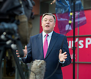 Ed Balls<br /> being interviewed outside the Labour Party Conference, Manchester, Great Britain <br /> 22nd September 2014 <br /> <br /> Rt Hon Ed Balls MP<br /> Shadow Chancellor <br /> <br /> <br /> <br /> Photograph by Elliott Franks <br /> Image licensed to Elliott Franks Photography Services