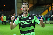 Forest Green Rovers Christian Doidge(9) at the end of the match during the EFL Sky Bet League 2 match between Yeovil Town and Forest Green Rovers at Huish Park, Yeovil, England on 24 April 2018. Picture by Shane Healey.