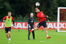 CARDIFF, WALES - Friday, September 2, 2016: Wales' George Williams during a training session at the Vale Resort ahead of the 2018 FIFA World Cup Qualifying Group D match against Moldova. (Pic by David Rawcliffe/Propaganda)