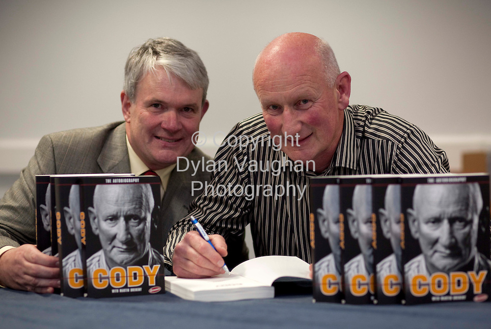 28/9/2009.Brian Cody and Martin Breheny pictured at the launch of the Brian Cody Autobiography in Kilkenny last night..Picture Dylan Vaughan..