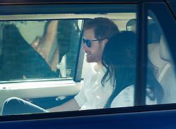 © Licensed to London News Pictures. 17/05/2018. Windsor, UK. Prince Harry and Meghan Markle arrive at Windsor Castle by car. Photo credit: LNP