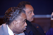"""l to r: Rev. AL Sharpton and Rev. Jesse Jackson at the opening reception of The 12th Annual RainbowPUSH Wall Street Project Economic Summit """" Fallout From The Bailout: A New Day in Washington """""""