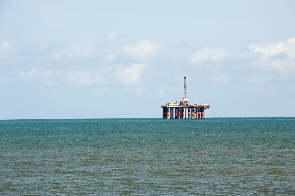 Oil rig off the coast of Takoradi, Ghana 2011