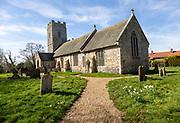 Village parish church of Saint Mary, Homersfield, Suffolk, England, UK