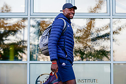 Daniel Edozie of Bristol Flyers arrives at SGS Wise Arena prior to kick off - Photo mandatory by-line: Ryan Hiscott/JMP - 19/10/2018 - BASKETBALL - SGS Wise Arena - Bristol, England - Bristol Flyers v Plymouth Raiders - British Basketball League Championship