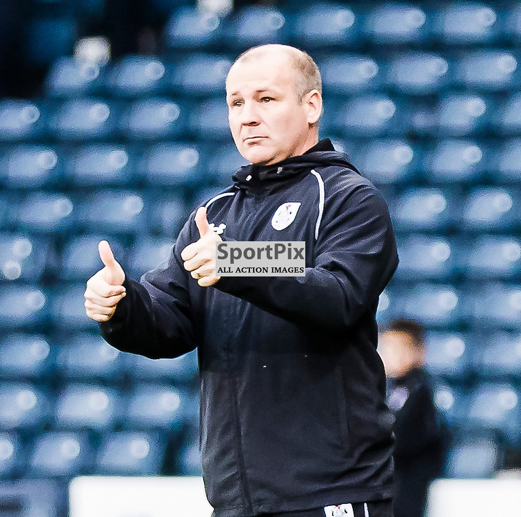 Queen's Park's manager Gus MacPhersonduring the Queen's Park FC V Peterhead FC Petrofac Training Cup semi-final played at Hampden Park, Glasgow on 14th November 2015; (c) BERNIE CLARK | SportPix.org.uk