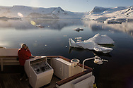 Antarctica. cruise boat - LE DIAMANT - Of the compagnie Ponant islands in Neko harbour , Anword bay on Graham - Land  detroit of Gerlache - Antarctica