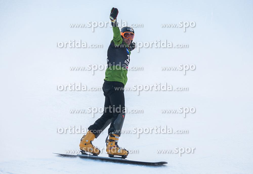 Yankov Radoslav during the men's Snowboard giant slalom of the FIS Snowboard World Cup 2017/18 in Rogla, Slovenia, on January 21, 2018. Photo by Urban Meglic / Sportida