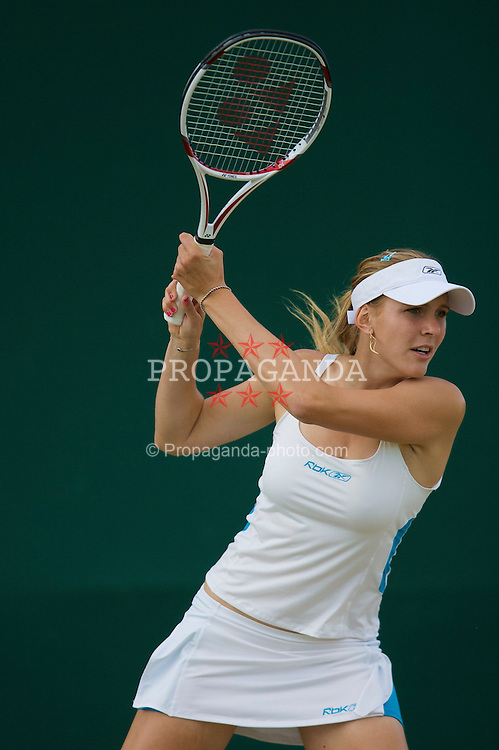 LONDON, ENGLAND - Saturday, June 28, 2008: Czech beauty Nicole Vaidisova (CZE) during her mixed doubles second round match on day six of the Wimbledon Lawn Tennis Championships at the All England Lawn Tennis and Croquet Club. (Photo by David Rawcliffe/Propaganda)