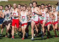 New York, New York - Cornell runners take off at the start of the Ivy League Heptagonal men's<br />