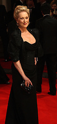 Meryl Streep nominated best leading actress for the Oscars 2014.<br /> U.S. actress Meryl Streep arrives for the 2012 ORANGE BRITISH ACADEMY FILM AWARDS, The Bafta's at The Royal Opera House, Covent Garden, London. Photo By I-Images