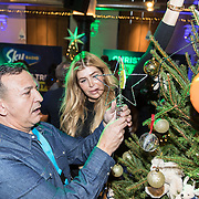 NLD/Amsterdam/20191206 - Sky Radio's Christmas Tree For Charity 2019, Najib Amhali met Estelle Cruijff