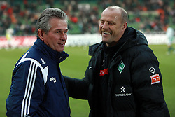 21.02.2010, Weserstadion, Bremen, GER,  1. FBL,  Werder Bremen vs Bayer 04 Leverkusen, im Bild Jupp Heynckes (Trainer / Coach Bayer 04) links, und rechts Thomas Schaaf (Trainer / Coach Werder).EXPA Pictures © 2010, PhotoCredit: EXPA/ nordphoto/ Arend / for Slovenia SPORTIDA PHOTO AGENCY.