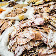Dried squid at the morning market in Luang Prabang, Laos.