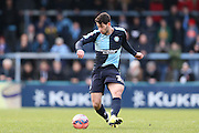 Joe Jacobson during the The FA Cup match between Wycombe Wanderers and AFC Wimbledon at Adams Park, High Wycombe, England on 7 December 2014.