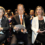 20160615 - Brussels , Belgium - 2016 June 15th - European Development Days - Opening Ceremony - Federica Mogherini - High Representative of the European Union for Foreign Affairs and Security Policy and Vice-President of the European Commission - Ban Ki-Moon - Secretary General, United Nations -  Yoo (Ban) Soon-taek © European Union