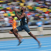 Lashawn Merritt, USA, winning the Men's 400m race during the Diamond League Adidas Grand Prix at Icahn Stadium, Randall's Island, Manhattan, New York, USA. 14th June 2014. Photo Tim Clayton