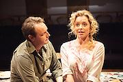 05/09/2012. The Orange Tree Theatre, Richmond presents the UK premiere of this enthralling European play by Ana Diosdado. Picture shows: Steven Elder as Juan and Mia Austen as Susie.