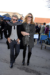 ROD STEWART and his wife PENNY at the 2007 Hennessy Gold Cup held at Newbury racecourse, Berkshire on 1st December 2007.<br />