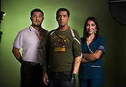 Mauricio Correa, Andrea Rosselot y Diego Silva, Asociación Chilena de Seguridad ACHS. Santiago de Chile, 05-05-15 (©Alvaro de la Fuente/Triple.cl)