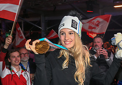 22.02.2018, Austria House, Pyeongchang, KOR, PyeongChang 2018, Medaillenfeier, im Bild Anna Gasser // Anna Gasser during a medal celebration of the Pyeongchang 2018 Winter Olympic Games at the Austria House in Pyeongchang, South Korea on 2018/02/22. EXPA Pictures © 2018, PhotoCredit: EXPA/ Erich Spiss
