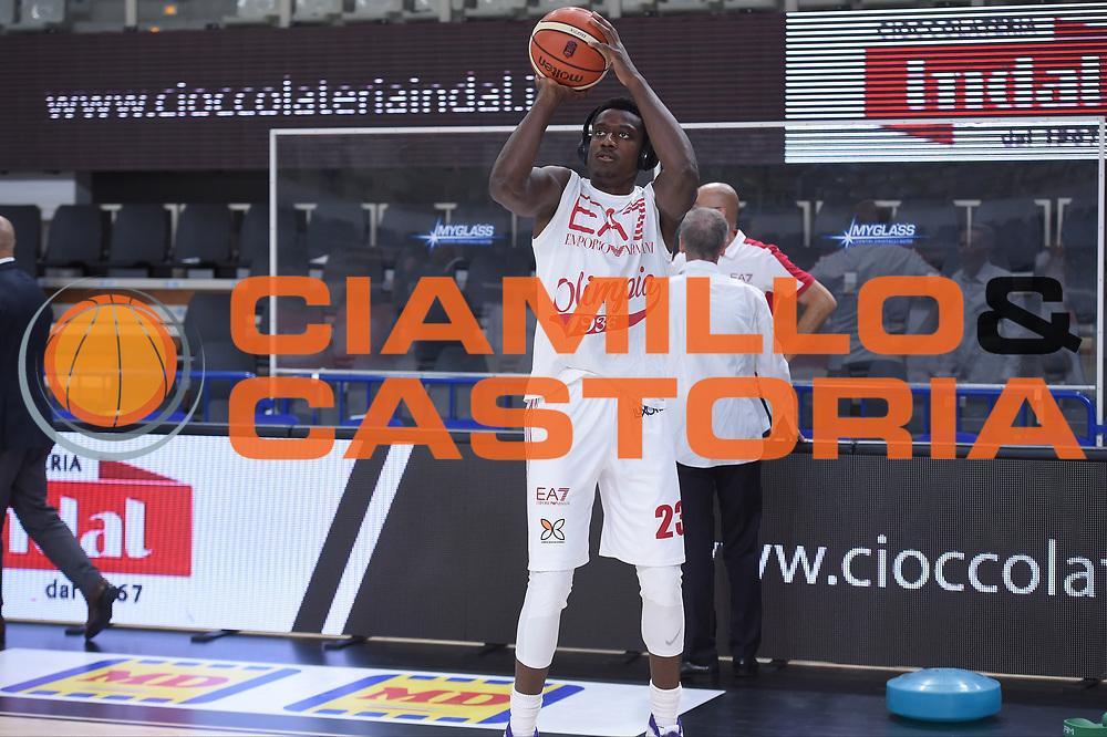 Abass Awudu<br /> Dolomiti Energia Trento - EA7 Emporio Armani Playoff Finale gara 6<br /> Legabasket serieA 2017-2018<br /> Trento 15/06/2018<br /> Foto GiulioCiamillo/Ciamillo-Castoria