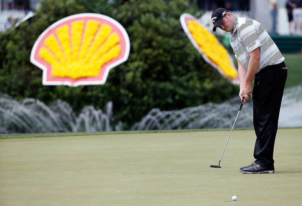 Jason Kokrak puts on the 18th green in the Shell Houston Open-Round 1 at the Golf Club of Houston on Wednesday, March 31, 2016 in Humble, TX. (Photo: Thomas B. Shea/For the Chronicle)