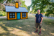 Richard Woods (pictured), Holiday Home (Regent's Park), 2018, The Alan Cristea Gallery -  Frieze Sculpture, one of the largest outdoor exhibitions in London, including work by 25 international artists from across five continents in Regent's Park from 4th July - 7th October 2018.
