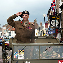 NWW2A Member Paul Drabble as Major General Bernard Law Montgomery during the Northallerton Wartime Weekend fund raising collection Northallerton High Street Saturday 11 June  2011.Images © Paul David Drabble
