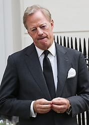 Sir Mark Thatcher speaking outside Baroness Thatcher's house in London, Wednesday, 10th April 2013 Photo by: Stephen Lock / i-Images
