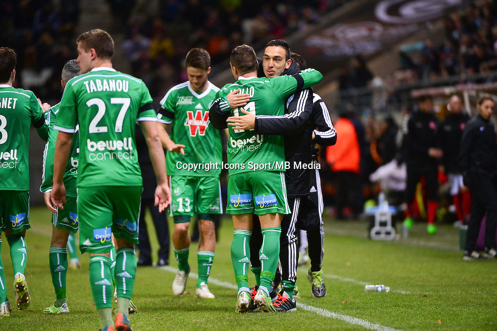 Joie Yohan MOLLO / Mevlut ERDING   - 10.01.2015 - Reims / Saint Etienne - 20eme journee de Ligue 1<br />