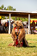 Grizzly Bear Dance, Laura Grizzlypaws, Crow Fair Powwow, Crow Indian Reservation, Montana